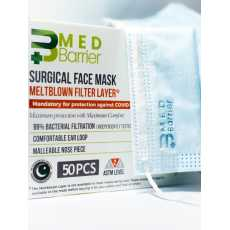 MedBarrier Meltblown Filtration Layer Disposable Face masks  Protective 3-Ply...