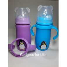 Baby Glass Feeder with Silicon Cover Feeding Bottle Silicon Cover 270ml 9.oz