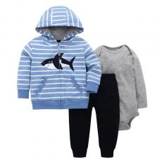 Newborn 3 pcs set winter infant romper clothing 100% cotton baby suits