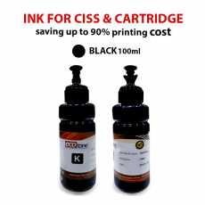 Ecotone Premium ink Black Color for inkjet printers CISS & Cartridge 100ml