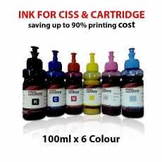 Ecotone Premium Ink for printers 6 Colour for inkjet printers CISS &...