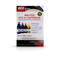 Ecotone Premium Ink 4 Colors for inkjet printers CISS & Cartridge 100ml - Ep.