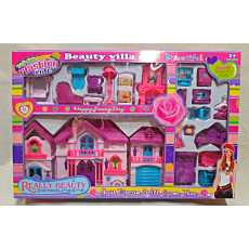 Beauty Villa Dolls House Set, Barbiee House play Set For Girls , Big Size...