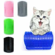 Cat and Dog Self Groomer Wall Brush Corner Cat Massage Self Groomer Comb...