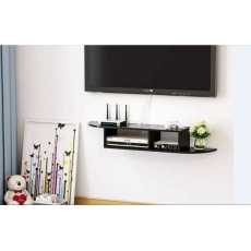 2 Tier Modern Wall Mount Floating Shelf TV Console for Cable...