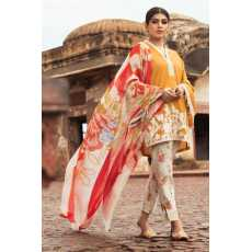 Sunset Glow A Unstitched   Linen 3Pc Embroidered Collection For Women...
