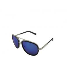 Blue Mirrored Silver Sunglasses