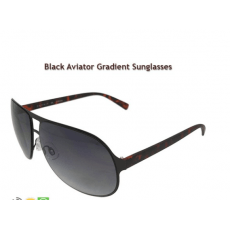 Black Aviator Gradient Sunglasses