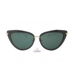 Cat Eye Sunglasses Black Gold