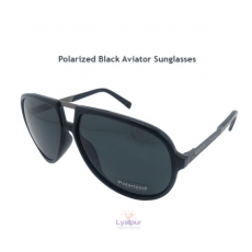 Polarized Black Aviator Sunglasses