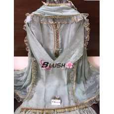 Pure opera silk stitch shirt with dupatta and gharara