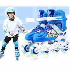 Adjustable Skate Roller Skating Shoes with Kit Helmet Knee Brace Protector...