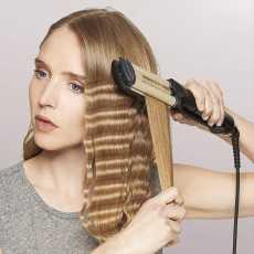KEMEI Professional Hair Curler with 3 Barrels Big Wave Curling Iron Ceramic...