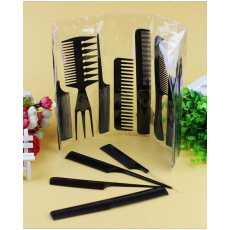 Pack of 10 - Professional Comb Set - Black