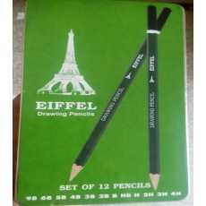 Eiffel Drawing / Sketching Pencils Set of 12 in Tin box