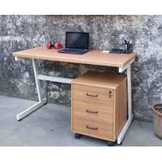 Study/Home Office Table(48x24x30) with Drawer Unit Modern Office Desk Gaming...