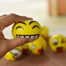 Pack Of 2; Emoji Soft Balls Round Shape Emoji React Multi React Emoji Balls...