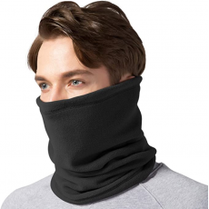 Fleece Neck Warmer Gaiter-Winter Windproof Double Layer Neck Tube Scarf for...