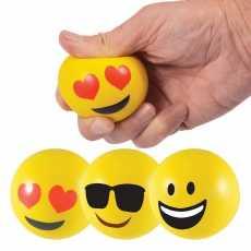Pack Of 2; Emoji Soft Balls Round Shape Emoji React Multi React Emoji Balls