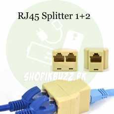 RJ45 1+2 Splitter Connector CAT5 LAN Ethernet Splitter Adapter