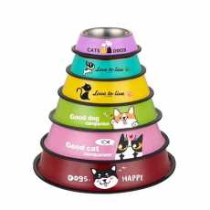 Color Steel Bowl For Dogs - XXL