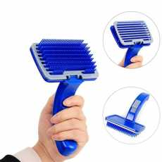 Button Blue Brush Large for cats and dogs