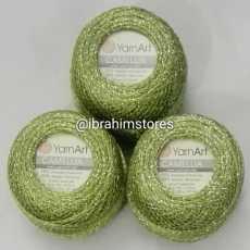 Metallic Shiny Camellia Yarn Art Embroidery Ball 20gram