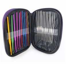 22Pcs Set Multi-colour Aluminum Crochet Hooks Needles Knit Weave Craft Yarn...