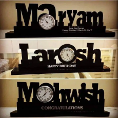 Customized name table clock