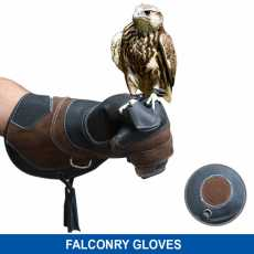 HTTC Falconry Gloves Nubuck Leather Eagle Hunting birds hawk Green Long Cuff...