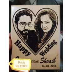 Picture frame with Lazzer printing picture