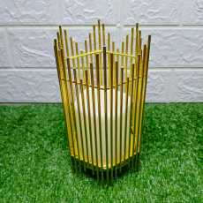 Golden Cage With Candle For Home Decor Party Decor Iron Candle Holders...