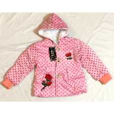 3 to 7 YEARS GIRL VELVET JACKET THICK AND WARM HOODED UPPER HOODIES