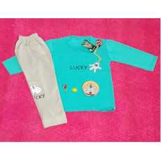 BABY BOY KID FULL SLEEVES T-SHIRT AND TROUSER WARM CLOTHES SUIT FOR WINTER...