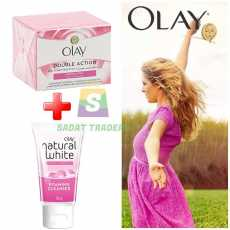 Bundle Olay Double Action Day Cream 50ml & Primer + Natural White Foaming...