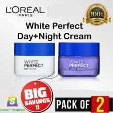 Bundle LOREAL PARIS WHITE PERFECT Day+NIGHT CREAM-50ml