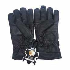 100% Genuine Leather Biker Gloves for Winter
