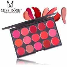 15 Color Lipstick Matte Lip Cream Palette