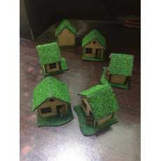 Wooden Decoration  House 2 inch size Display