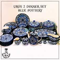 Uros 2 Blue Pottery Hand Made Dinner Set 009