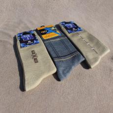Men's Socks for Winter - Pack of 3 Woolen Socks - Light Color Pack