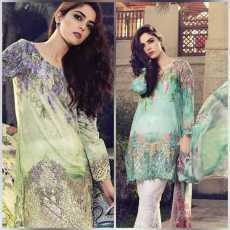 Women*Cloth*Maria b  9056KT *Fabric * Linen 6868