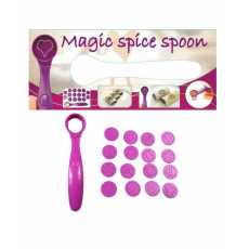 Electric Magic Spice Spoon Mold Art Pen for Coffee With Stencil 15Pcs