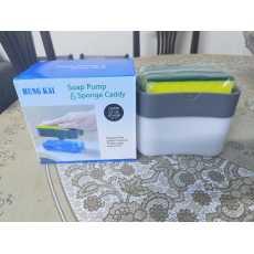 soap pump and sponge caddy