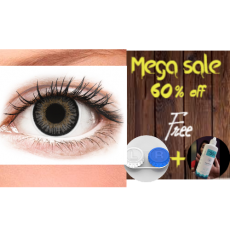 Eye Contact Lenses Grey color  + Free Kit And lens lotion 100% silicone...
