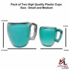 Pack of Two High Quality Plastic Cups Size Small and Medium