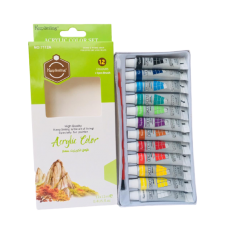 Pack of 12 Acrylic Color Acrylic Paint With brush Orega Colors Art Stationery...