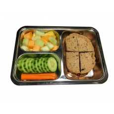 Stainless Steel Lunch Box with 3 Compartments-Eco Friendly Container with...