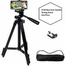Get Amazing TRIPOD 3120 Camera Stand with Mobile Holder 4-section Portable...