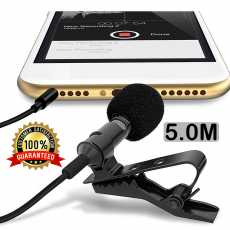 Mic for Mobile 5.0Meter Long Cable Clip Microphone Metal Body Clip Lavalier...